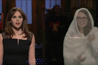 Tina Fey appears as a hologram version of Princess Leia on SNL. Photo / Twitter