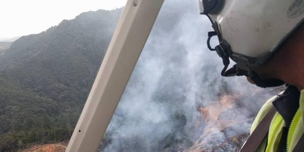 An aerial view of the fire near Ngaruawahia. Facebook photo / Ngaruawahia Fire Brigade