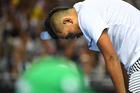 Kyrgios during his Australian Open meltdown against Italian Andreas Seppi. Photo / Antoine Couvercelle