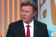 Richard Wilkins stormed off set after his hair was made fun of. Photo / Channel 9