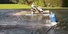 Watch: Watch: Epic Kiwi slip n slide goes viral