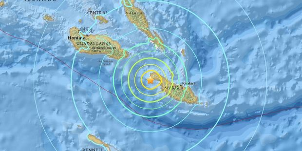 The earthquake happened shortly after 11pm local time. Photo / Supplied