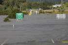 The road underpass at Stillwater was closed by flooding. Photo / Greymouth Star