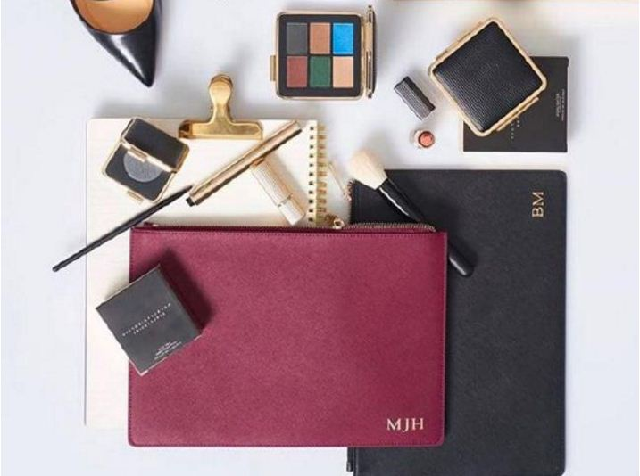 The Daily Edited jumped on the personalisation craze with its monogrammed leather goods. Photo / Instagram