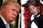 Donald Trump may have found a headline act in Azealia Banks. Photos/AP and Supplied