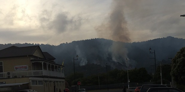 Two helicopters and 11 fire crews are battling the blaze in Ngaruawahia. Photo / Supplied via Jamie Wilson