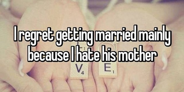 This woman didn't seem to have a problem with her husband - but rather her mother-in-law. Photo / Whisper.com