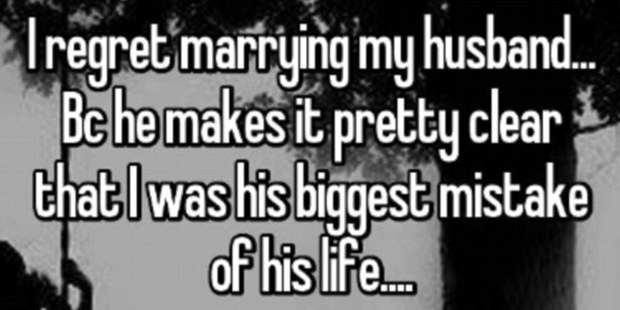 One woman didn't seem to have specific problems with her marriage from her end, except for the fact that her husband was making it clear he was so unhappy with her. Photo / Whisper.com