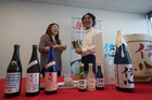 Elli Kim tries new varieties of the popular Japanese drink Sake from brewer Munetaka Nakashima. In October NZ is hosting it's first sake festival. 24 July 2017 New Zealand Herald Photograph by Dean