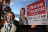 Labour Tukituki candidate Anna Lorck is defending her election billboards after complaints were laid to the Advertising Standards Authority. Photo/ Duncan Brown