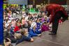 Magician Bill Reid entertains kids during the Special Children's Extravaganza at Pettigrew Green Arena on Saturday. Photo/Warren Buckland