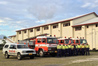 Puaikura Fire Brigade on Rarotonga needs a shed to keep its fire engines out of the weather. Photo / Supplied