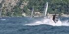 Watch: Rough seas at Moth Worlds sees Burling crash twice