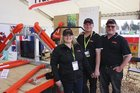 Fraser Forks Fieldays team, from left: Sam and Wayne Fraser, Kim Jensen.