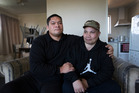 Deejay Matthews with his brother Hubertiss Matthews who is mentally disabled, riddled with cancer and being kicked out of his Manurewa home along with his caregivers. Photo / Brett Phibbs