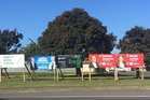 Election hoardings on the corner of Carlton Ave and Liffiton St. PHOTO/ANNE-MARIE MCDONALD