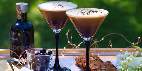Espresso martinis made with a Cocktail Collective box. Photo / Cocktail Collective