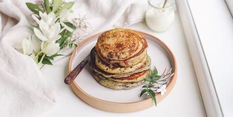 Eleanor Ozich's raspberry yoghurt pancakes. Photo / Eleanor Ozich