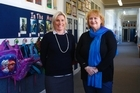 NZEI president Lynda Stuart (right) at Waitotara school to talk to Waitotara School principal Jane Corcoran about the pressures of running a small rural school. Friday, August 11, 2017 Wanganui Chronicle photograph by Bevan Conley.