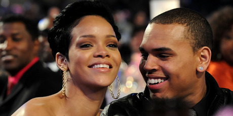 Singers Rihanna and Chris Brown attend the 2009 GRAMMYs. Photo / Getty