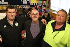 From left, Tony Maas, Craig Sharp and Shane Summers at Whangaehu School. PHOTO/STUART MUNRO