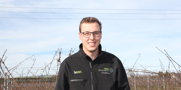 Ben Richards is competing in the 2017 Bayer Young Viticulturist of the Year National Final, down at Villa Maria in Marlborough at the end of the month. Photo/ supplied.