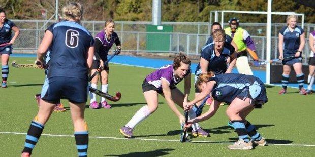 Masters Women's Te Kiri play Hawera 2 Premier Women's during the final.
