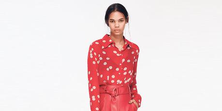 Anita shirt $349. Venecia skirt $479. Escobar pumps $499. All from Kate Sylvester.
