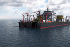 Trans-Tasman Resources' integrated mining vessel would be tethered by four anchors, have a crew of 140, a helipad and operate 24/7.