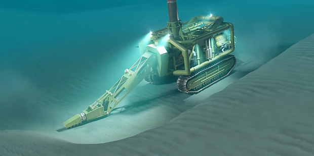 Extraction: Trans-Tasman Resources will use an undersea crawler to suck up ironsand from the seabed at a rate of up to 8000 tonnes an hour