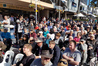 A huge crowd has turned up in central Tauranga to hear New Zealand First leader Winston Peters speak. Photo/John Borren
