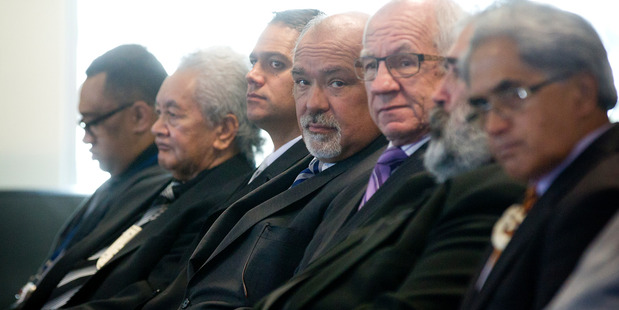 Waikato DHB chief executive Dr Nigel Murray (looking at camera) and board chairman Bob Simcock (right), have been criticised in a letter to the Ministry of Health. Photo / File.