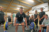 Mentor Robert Gillett-Jackson (left) watches Nick Palmer do a dead lift during training at the high-performance centre at the HB Regional Sports Park in Hastings. Photo/Warren Buckland