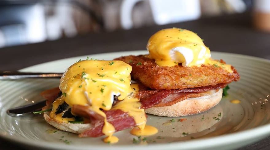 """""""Eggs benny"""" on potato rosti at Once Strangers Cafe. Photo / Getty Images"""