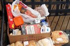 The food parcel received by a Stratford single mum of three children.
