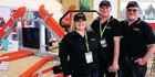 Fraser Forks Fieldays team, from left: Sam and Wayne Fraser and Kim Jensen. Photo / Dean Taylor