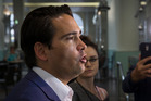 Transport Minister Simon Bridges says Labour's plan for rapid passenger rail between Tauranga, Hamilton and Auckland  would take more than 4.5 hours compared to 2.5 hours by car.  Photo / Greg Bowker