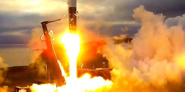 Loading Rocket Lab launching its rocket from Mahia. Picture/supplied.