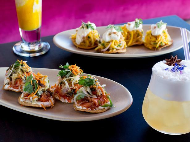 The mango and salmon puris on the menu at Honeybear. Photo / Babiche Martens