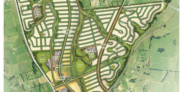 Paerata Development Vision Plan. Photo: Supplied