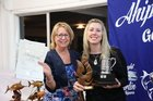 The achievements of Nicky Sinden and Lynda Matthews over the 2016/17 summer fishing season were acknowledged at the Ahipara Gamefish Club's end of season prizegiving last Saturday night.  Photo / Kirsty Saxon