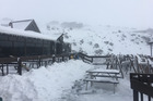 Mt Ruapehu has had a huge snow dump over the last few days. Photo / Supplied by Tracey Mehrtens