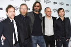 The National, from left, Bryce Dessner, Matt Berninger, Bryan Devendorf, Scott Devendorf, and Aaron Dessner. Photo/AP
