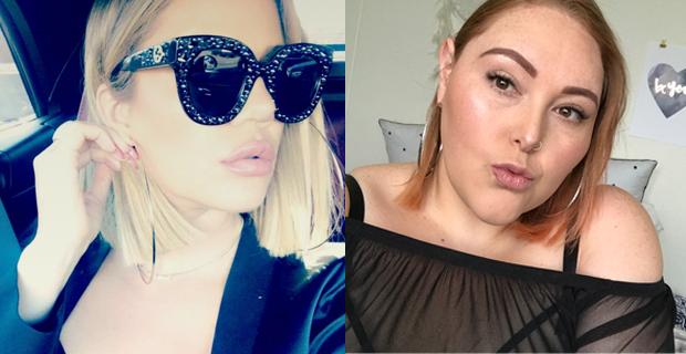 Up close glam like Khloe including XXL hoop earrings. Photo / Snapchat