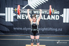Matanoko McDonald in action during the Olympic Weightlifting New Zealand National Secondary School Championships. Photo: Reuben Lawrence Photography