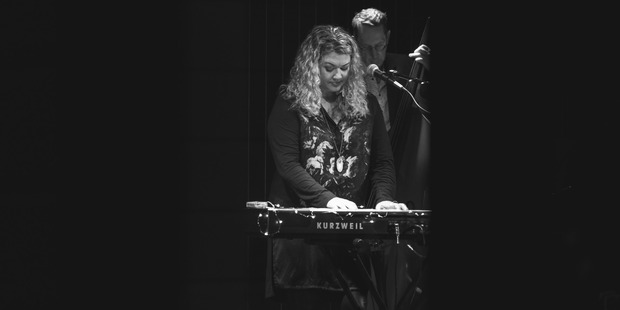 Raumati South musician Charlotte Kerrigan at her EP launch gig last month.