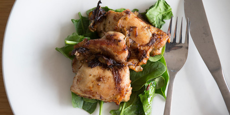 Moroccan chicken with preserved lemon. Photo / Nick Reed