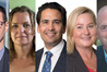 Election candidates (from left) Clayton Mitchell, Jan Tinetti, Simon Bridges, Angie Warren-Clark and Todd Muller.