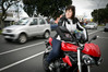 Catherine Fleming, co-owner of Bayride Motorcycles, is keen to promote motorcycle safety. Photo/Andrew Warner