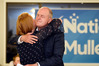 Todd Muller embraces wife Michelle as he learns he's become Bay of Plenty MP again. Photo/George Novak